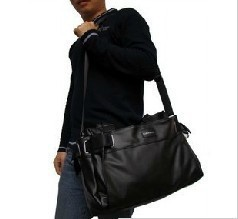 Hot Sell Men's Casual Travel Bag Faux Leather Color Black Brown