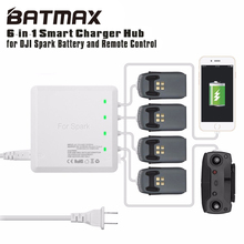 Universal 6 In 1 Battery Charger for DJI Spark Drone Battery DJI Spark Drone RC Quadcopter with Dual USB Port  Remote Controller