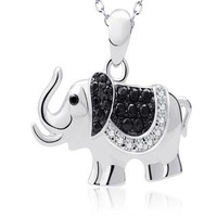 Boho 925 Sterling Silver Necklaces Pendants Ethnic Crystal Rhinestone Elephant Choker Necklace Chain