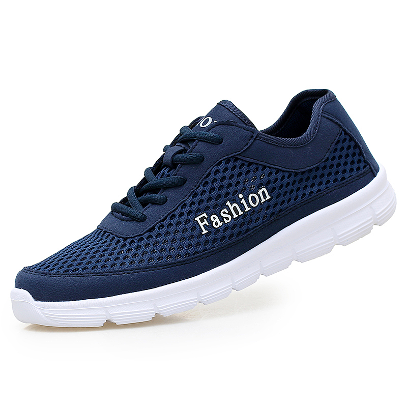 Summer Trainers Men's Shoes Flat Shoes Walking Casual Soft Breathable Mesh Zapatillas Deportivas Spring Lace-up 2017 Men Shoes 2017 new summer breathable men casual shoes autumn fashion men trainers shoes men s lace up zapatillas deportivas 36 45