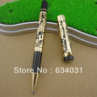 Wholesale Sales Promotion Jinhao 5328 Noble Carver M Ball Point Pen Steel Metal Dragon Gift Gold