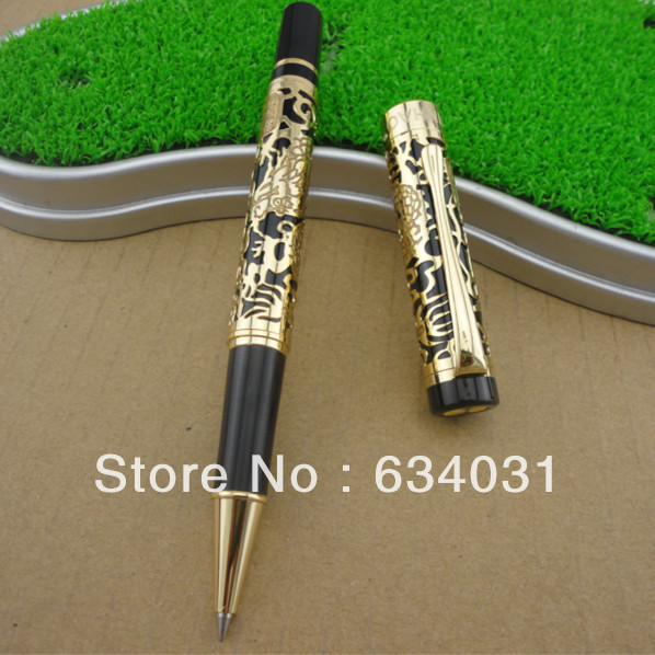 Jinhao 5000 luxury Business Pen School Supplies Golden Dragon Embossed Metal Roller Ball Pen Writing Pen jinhao rare golden double dragon pattern roller ball pen luxury stationery school office supplies brand writing gift pens