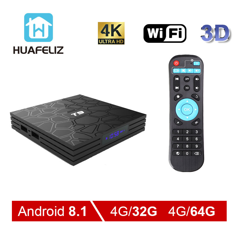 T9 Tv Box T9 Android 8 1 4GB 32GB Rockchip RK3328 Quad core 1080P 4K Android