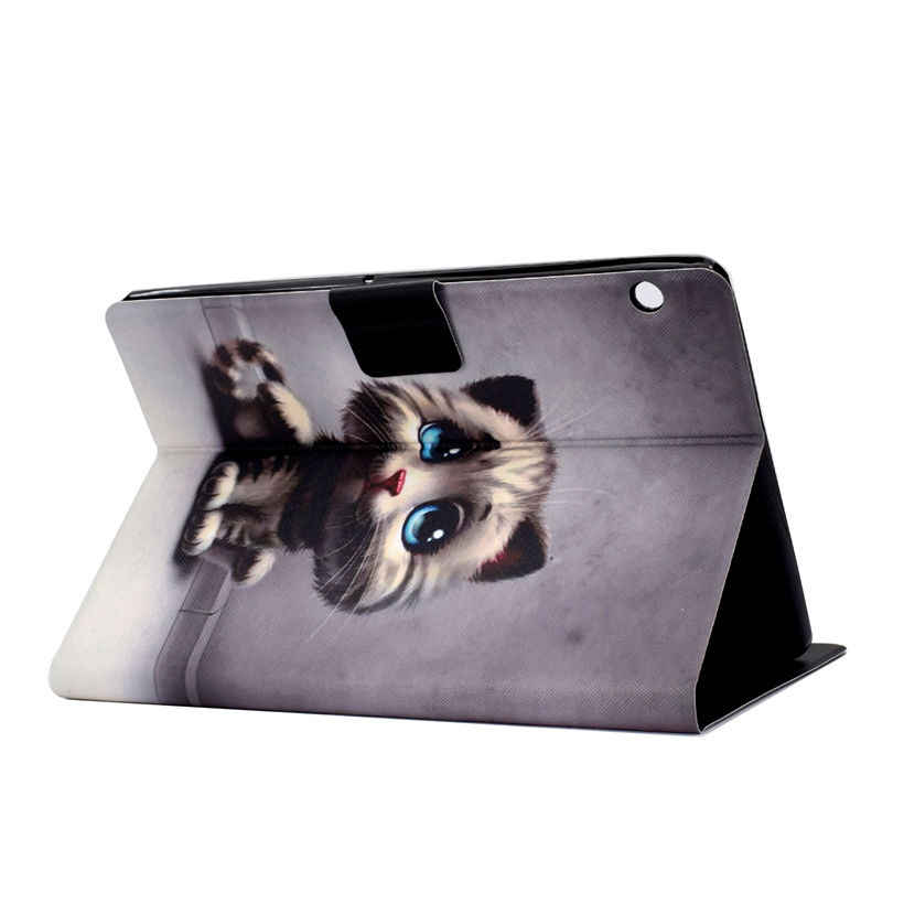 """Cute Cat Case For Huawei MediaPad T3 10 AGS-L09 AGS-W09 AGS-L03 9.6"""" Cover Funda Silicone PU Leather Stand Skin Shell +Gift"""