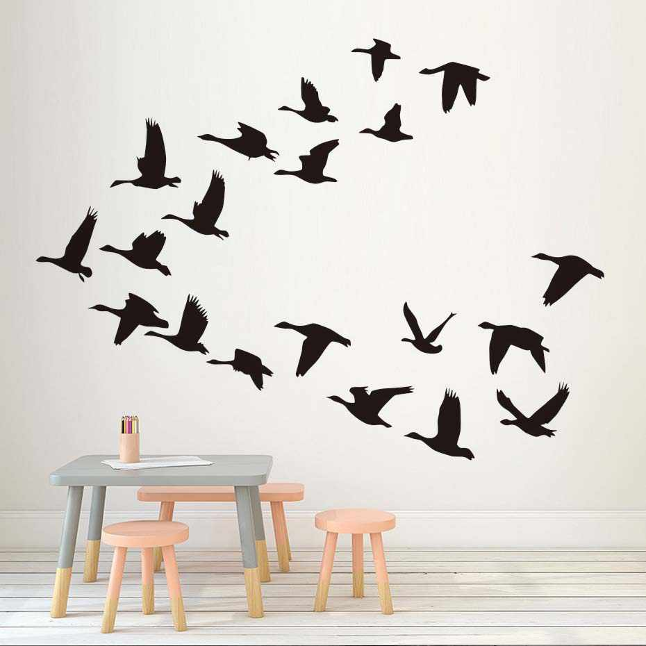 Flying Birds Diy Wall Sticker For Living Room Decor Animals Art Murals Wallpaper Home Decoration Accessories
