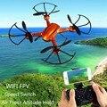 RC Quadcopter Con Cámara HD 2.4 GHz 4CH WiFi Transmisión en tiempo Real de Aire Prensa de mantenimiento de Altitud RC Drone Remoto Helicóptero de Control