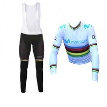 spring autumn 2018 world champion Alejandro Valverde pro cycling jersey kits  MTB bike cloth Ropa Ciclismo 57ad082a5