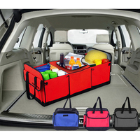 JCOTTON Large Car Auto Trunk Organizer Folding Mesh Heat Insulation Cooler Travel Storage Car Bag Organizer