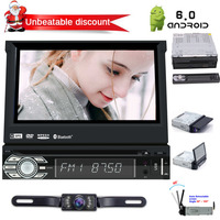universal single din 1 din 7 inch latest Android 6.0 car dvd player with a Detachable Panel for anti theft touch screen in dash