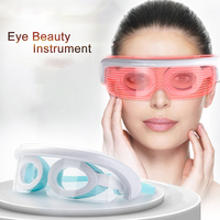 Eye Mask Electric Massager Machine 3 Modes USB LED Constant Temperature Beauty Eyeglasses Care Instrument