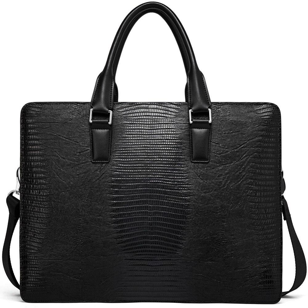 Bostanten Men Genuine Leather Briefcase Laptop 16.5 Inch Men Briefcase Bag Male Shoulder Bag Crossbody Bag Tote Handbag