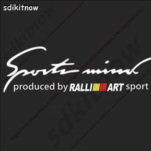 New RALLI ART ralliart Sports Car Windows Body Sticker Decal Auto Styling For mitsubishi lancer asx outlander pajero galant(China)