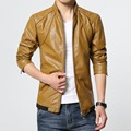 Jaqueta де couro masculina кожаная куртка марка пальто мотоцикл кожаные куртки кожа PU пальто стоять воротник размер 6XL