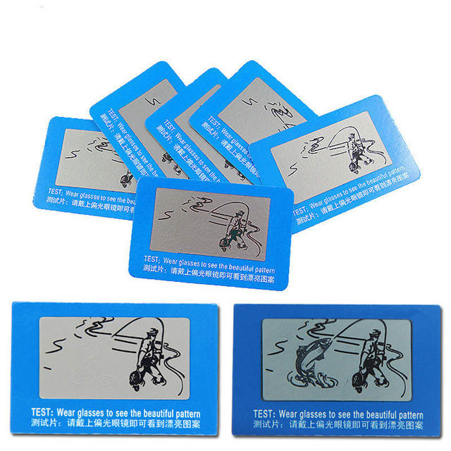 ba6523d4d6b23 placeholder 100 pcs TAC Lente Polarizada Cartão de Teste Cartão de Teste  para Teste de Polarização óculos