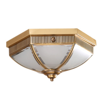 カンアメリカン銅 LED 天井ランプガラスランプシェードヨーロッパ真鍮 Tooolery E14 led ランプ装飾送料無料