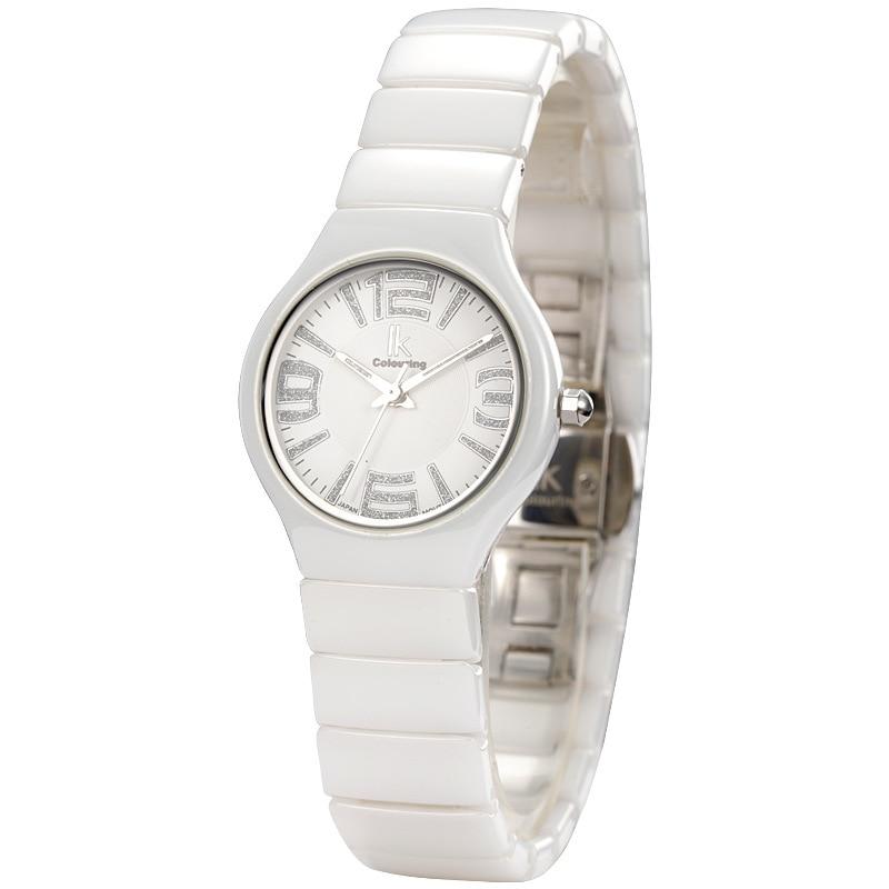 ФОТО ladies white ceramic quartz watches fashion womens clocks casual female wristwatches waterproof orologio donna IKcolouring
