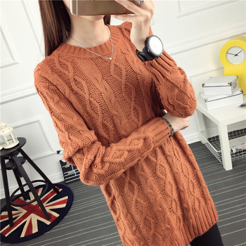 OHCLOTHING 6602 real ladies tee twist a long paragraph sweater dress 35