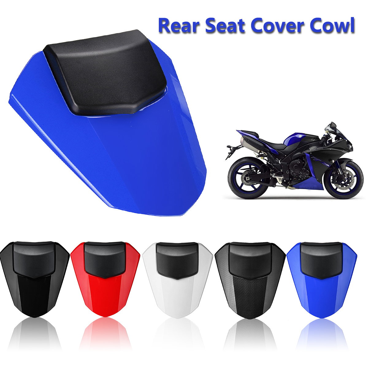Blue GZYF Rear Seat Fairing Cover Cowl Fits Yamaha YZF R6 2008-2016