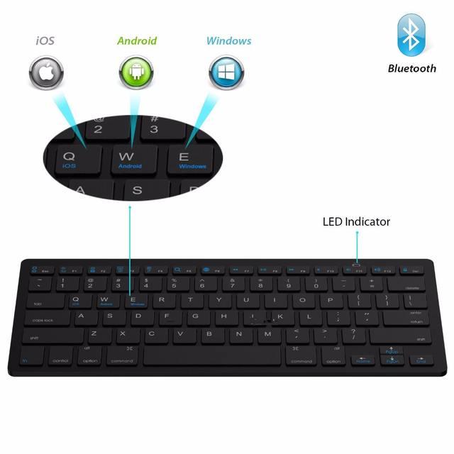 Ultra Slim Bluetooth Wireless Keyboard