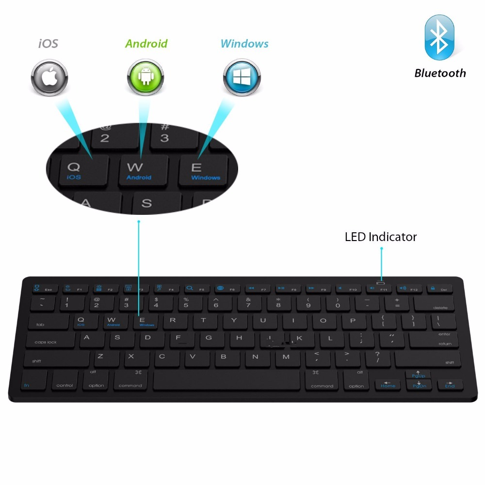Image 4 - Kemile оптовая продажа профессиональная ультра тонкая беспроводная клавиатура Bluetooth 3,0 Клавиатура Teclado для Apple для iPad серии iOS системы-in Клавиатуры from Компьютер и офис