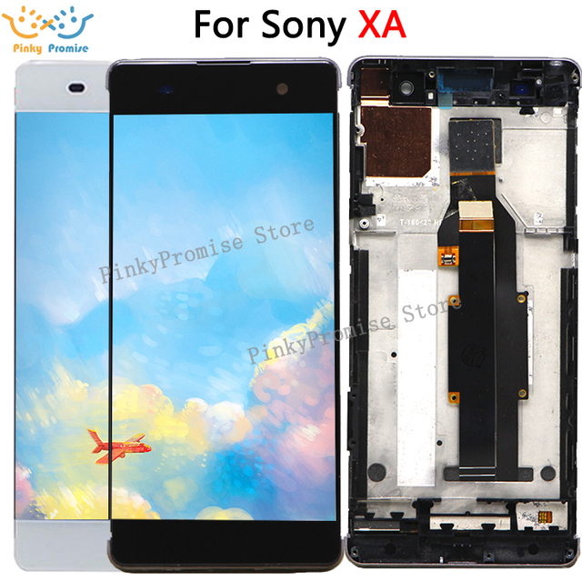 """ل 5.0 """"سوني اريكسون XA شاشة الكريستال السائل مجموعة المحولات الرقمية لشاشة تعمل بلمس F3111 F3113 F3115 بانتيلا استبدال لسوني XA LCD"""