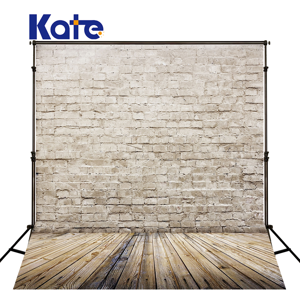 Kate wood photography photography white brick wall backdrops gray wood floor Baby backgrounds for photo shoot print CM-5674 photography backdrops wood grain adhesion wood brick wall backgrounds for photo studio floor 849