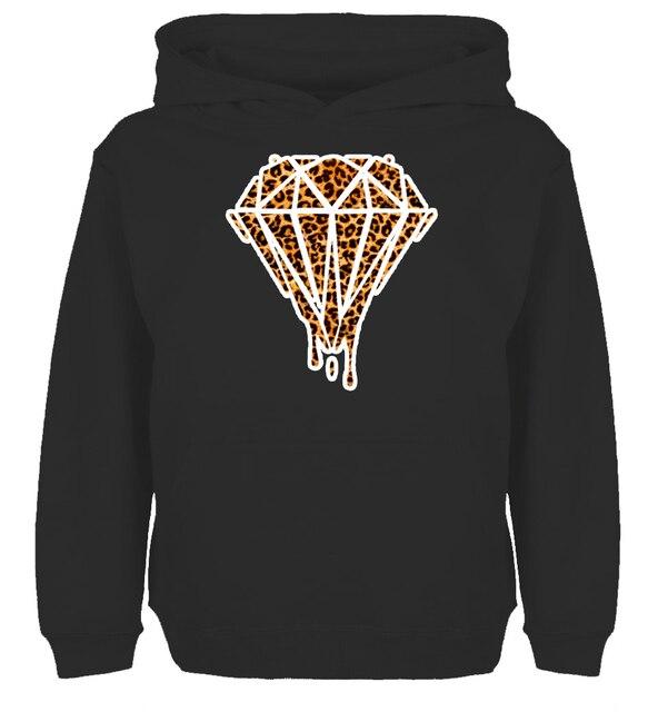 79ab6d3243c Bleeding melting dripping Galaxy Diamond Leopard diseño HOODIE hombres de  las mujeres de invierno algodón impresión