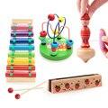 8 nota bebé niños perro golpe de la mano xilófono glockenspiel instrumento musical de octava del piano de madera sabiduría desarrollo toys