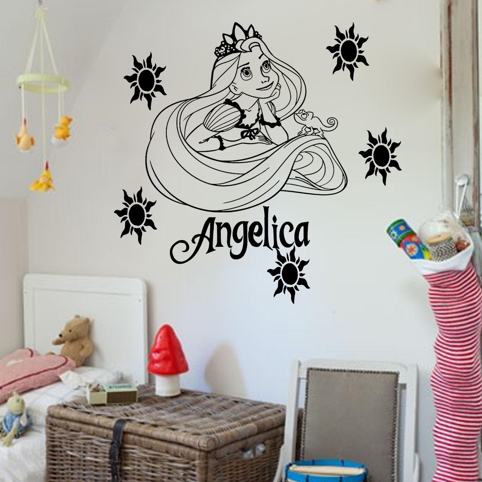 Disney wall art roselawnlutheran d0101 disney princess rapunzel tangled vinyl wall art sticker girlu0027s bedroom decal home decorchina amipublicfo Image collections