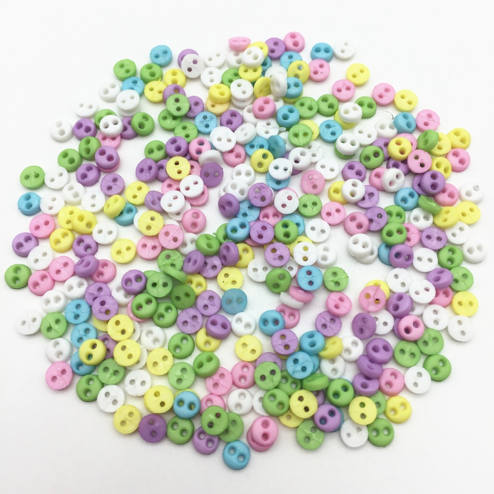 100pcs Colorful Mini Resin Button Sewing Buttons DIY Craft Doll Embelishment