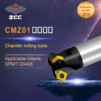 ZCC.CT original Chamfer milling tools high CMZ01 performance CNC lathe tools indexable milling tools face milling tools popular cnc lathe machining center indexable square shoulder milling tools holder with high precision pe05 17b32 100 08