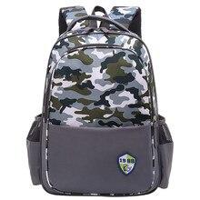 Водонепроницаемый дети школьные сумки для девочки мальчики дети сумки ортопедические ранцы камуфляж основной рюкзак детские ранцы mochilas