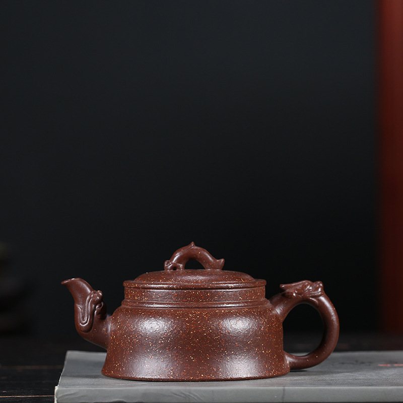Yixing Pottery Teapot Famous Kettle Raw Ore Purple Mud Dragon The World Kettle Quality Goods Yixing