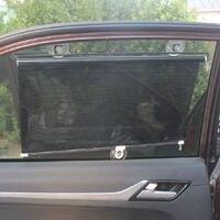 Carro sombra de sol janela pára-sol drapeja viseira valance cortina pára-sol rolo dobrável estilo do carro