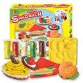Nueva diy plastilina plastilina arcilla de color juego entre padres e hijos juguetes interactivos que sándwich molde juguete inteligente