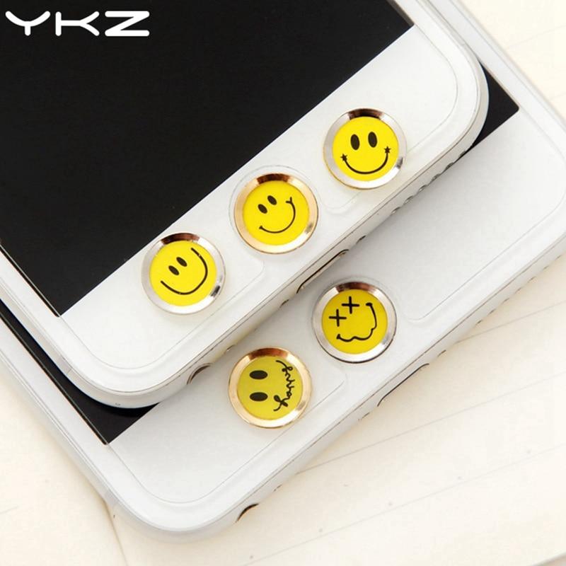 YKZ Universal Home Button Sticker For iPhone 8 7 6 Plus 5 Fingerprint Touch ID Anti Swea ...