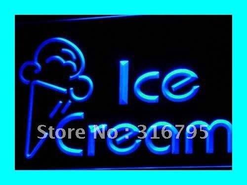 I462 новые Мороженое магазин кафе логотип <font><b>led</b></font> neon light sign on/off Swtich 20 + Цвета 5 размеров