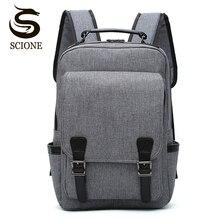 Scione Männlichen Leinwand Rucksack Große Kapazität Reisetasche Pack Laptop 15,6 zoll Rucksack Frauen Schule Umhängetasche Rucksack mochila