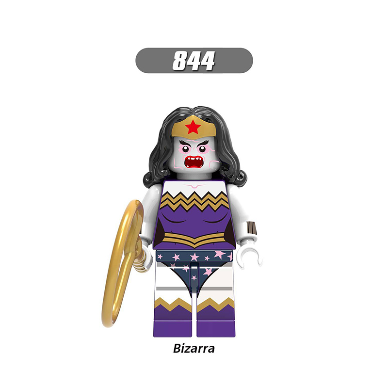 Single Sale LegoINGlys Enlighten  Building Block Bizarra Wonder Woman Sea King Mini Figures Model Toys Children Gift X0189