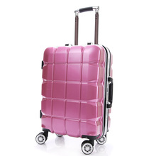 YISHIDUN trolley rolling luggage bags men PC Aluminum frame Business travel bag women universal wheels lattice suitcase  20 24