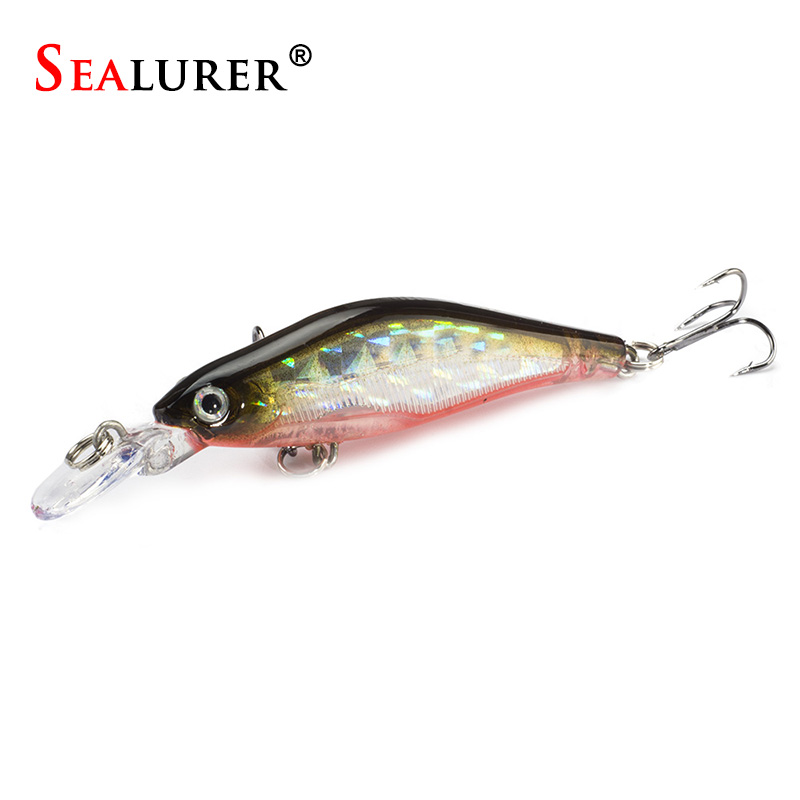SEALURER Minnow Fishing Lure Wobbler 1pcs/lot 8cm/6g Plastic Slowly Sinking Pesca Carp Hard Bait Crankbait Fish Tackle 5 Colors sealurer brand big wobbler fishing lures sea trolling minnow artificial bait carp peche crankbait pesca jerkbait