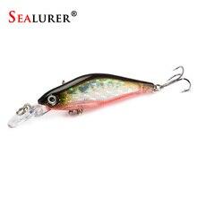 SEALURER Minnow Fishing Lure Wobbler 1pcs/lot 8cm/6g Plastic Slowly Sinking Pesca Carp Hard Bait Crankbait Fish Tackle 5 Colors