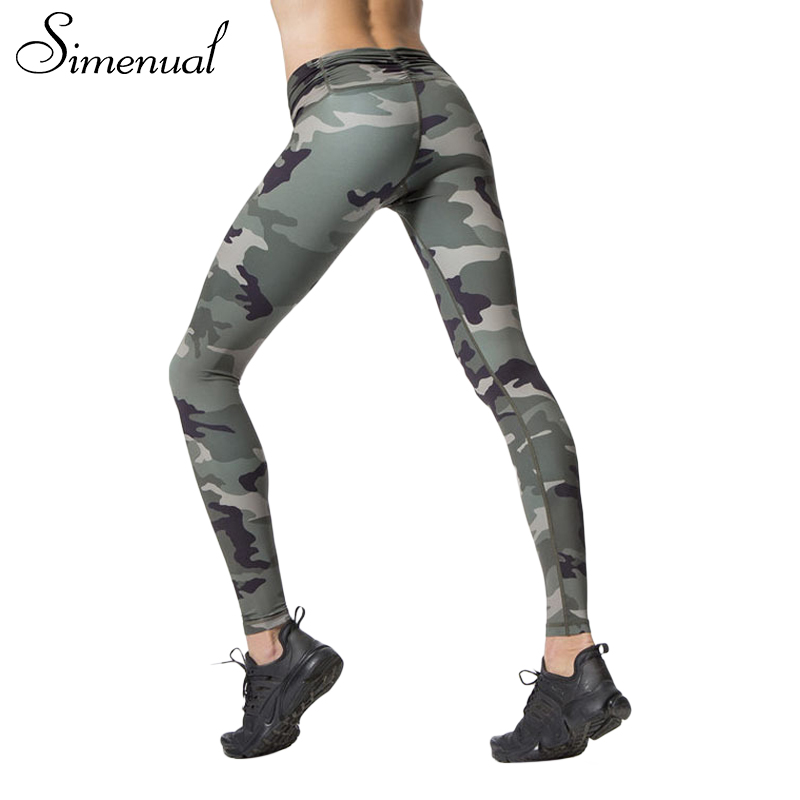 Fitness Leggings Camo: Simenual Harajuku Camouflage Print Fitness Legging Female
