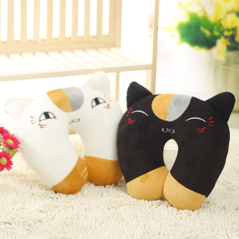 4 Style Natsume Yuujinchou Nyanko Sensei Plush Cat U Shape Plush Toy Kawaii Anime Neck Pillow Cushion Christmas Gift for Kids