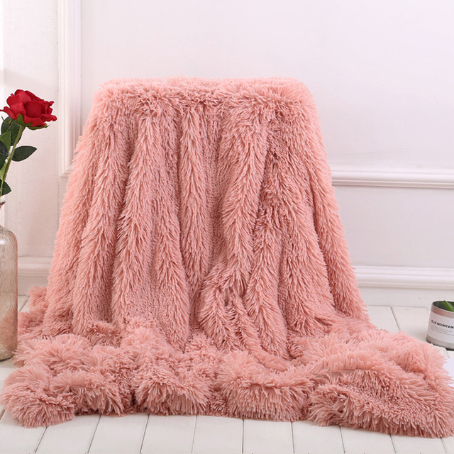 2018 New Large Soft Warm Gy Faux Fur Throw Blanket Sofa Double King Bed Home