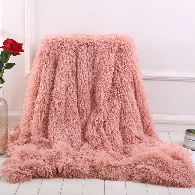 2018 Nieuwe Grote Zachte Warme Shaggy Faux Fur Worp Deken Sofa Dubbele Koning Bed Deken Thuis Textiel 7a2493 Noch Te Hard Noch Te Zacht