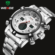 WEIDE Luxury Brand Top Men Watches Men's Quartz Analog Digital LED Sport Watch Men Army Military Wrist Watch Relogio Masculino