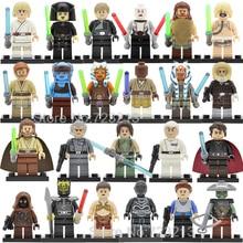 Única venda de Star Wars Luke Embo Jawa Figura Unduli Yularen Qui-gon Jinn Ahsoka Tano Death Star Droid Blocos de Construção do Modelo brinquedos