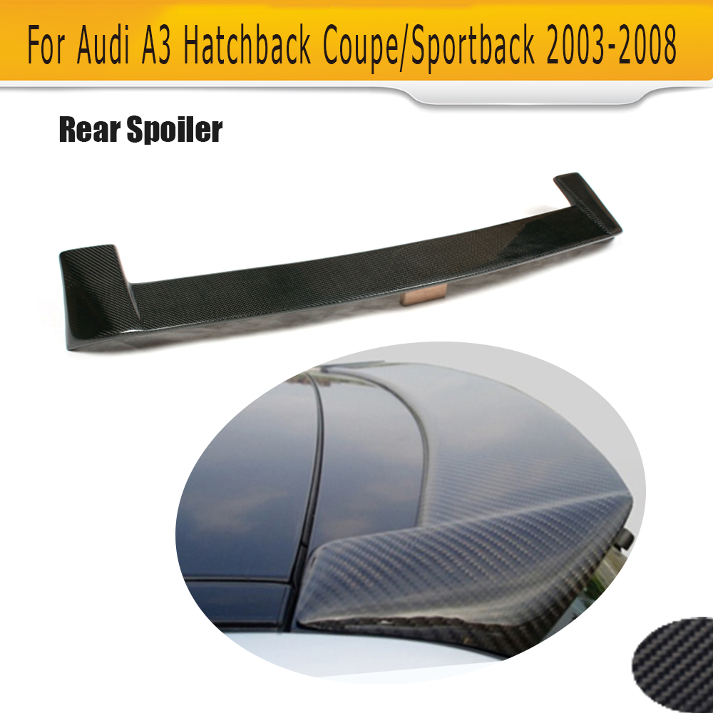 Carbon Fiber Roof spoiler Wing for Audi A3 8P Hatchback Coupe 2003-2008 Notfit S3 Sline carbon fiber car moulding decorative fins canards front sticker splitter for audi s3 sline sedan 4 door 13 16 not a3 standard page 8