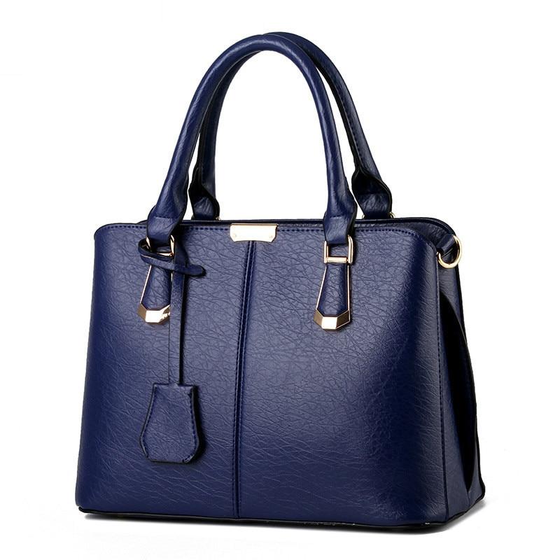 Women PU Leather Handbags Ladies Large Tote Bag Female Square Shoulder